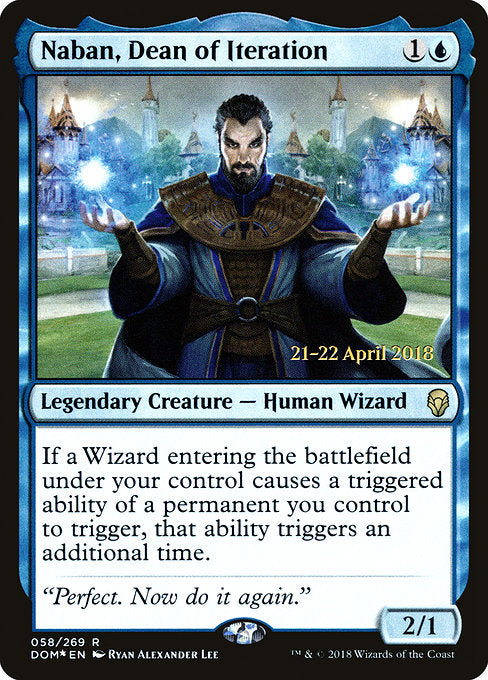 Naban, Dean of Iteration [Dominaria Promos] | Guf