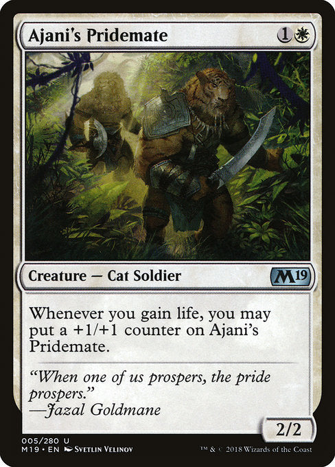 Ajani's Pridemate [Core Set 2019]