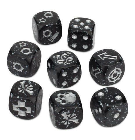 300-30 NECROMUNDA DELAQUE GANG DICE SET