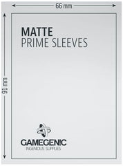 Gamegenic Matt Prime Card Sleeves Green (66mm x 91mm) (100 Sleeves Per Pack) | Guf