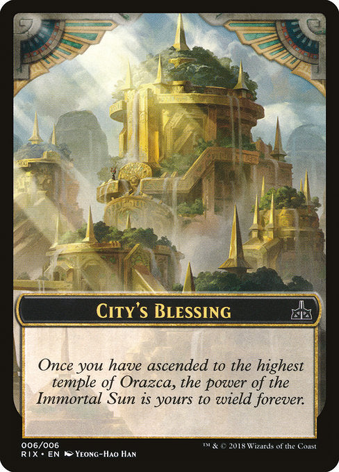 City's Blessing [Rivals of Ixalan Tokens]