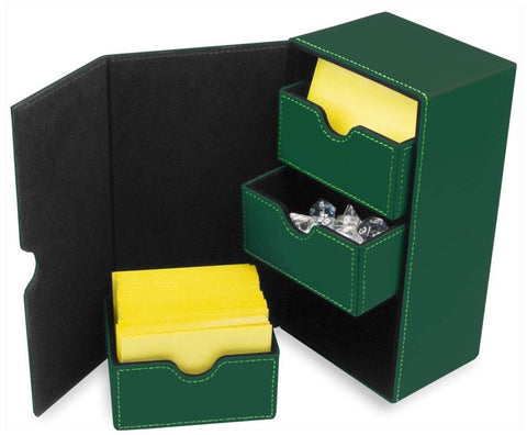 BCW Deck Vault Box LX Green (Holds 200 Cards)