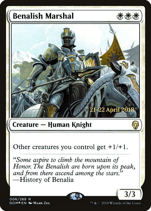 Benalish Marshal [Dominaria Promos]