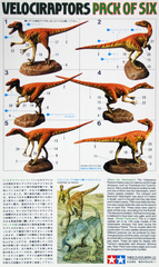 Tamiya 60105 Velociraptors Diorama Set Pack of Six 1/35 scale kit | Guf