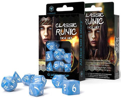 Classic Runic Dice Set - Glacier and White (set of 7) | Guf