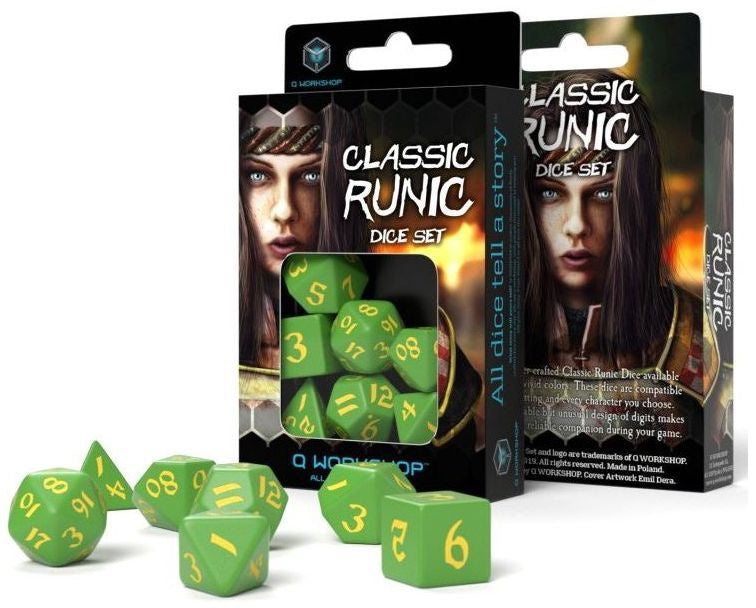 Classic Ruinc Dice Set - Green and Yellow (set of 7) | Guf
