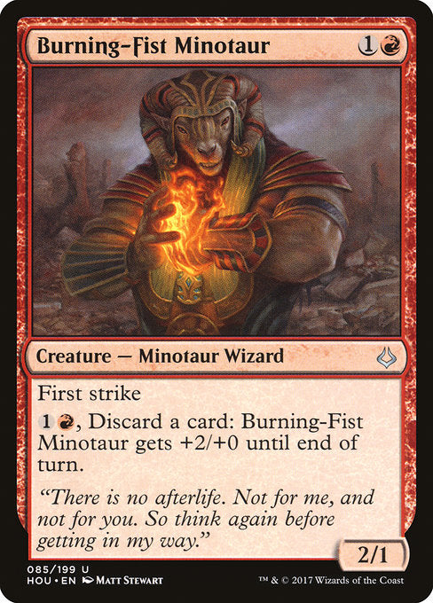 Burning-Fist Minotaur [Hour of Devastation]
