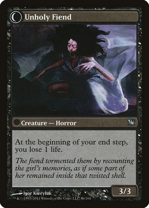 Cloistered Youth // Unholy Fiend [Innistrad] | Guf