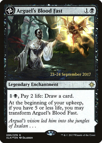 Arguel's Blood Fast // Temple of Aclazotz [Ixalan Promos]