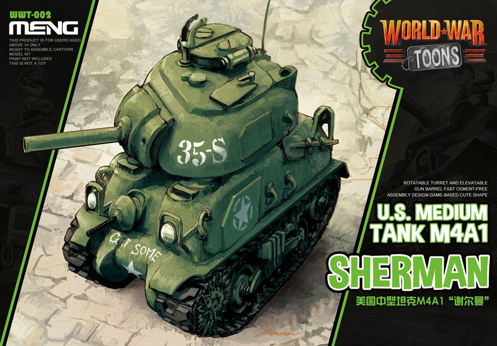 Meng SD World War Toons SHERMAN M4A1 | Guf