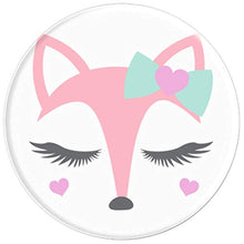 Load image into Gallery viewer, Amazon.com: Animal Faces Series (Fox in Bow) - PopSockets Grip and Stand for Phones and Tablets: Cell Phones & Accessories - NJExpat