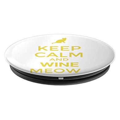 Amazon.com: Keep Calm And Wine Meow! - PopSockets Grip and Stand for Phones and Tablets: Cell Phones & Accessories - NJExpat