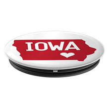 Load image into Gallery viewer, Amazon.com: Commonwealth States in the Union Series (Iowa) - PopSockets Grip and Stand for Phones and Tablets: Cell Phones & Accessories - NJExpat