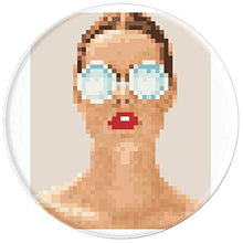 Load image into Gallery viewer, Amazon.com: Lady with Glasses Design, pixelated - PopSockets Grip and Stand for Phones and Tablets: Cell Phones & Accessories - NJExpat