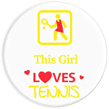 Load image into Gallery viewer, Amazon.com: This Girl Loves Tennis! - PopSockets Grip and Stand for Phones and Tablets: Cell Phones & Accessories - NJExpat