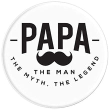 Load image into Gallery viewer, Amazon.com: Papa, The Men, The Myth, a Legend! - PopSockets Grip and Stand for Phones and Tablets: Cell Phones & Accessories - NJExpat
