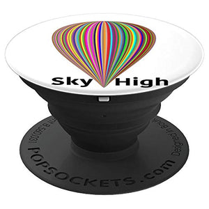 Amazon.com: Balloon Rainbow Striped Sky High Hot Air Style - PopSockets Grip and Stand for Phones and Tablets: Cell Phones & Accessories - NJExpat