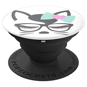 Amazon.com: Animal Faces Series (Cat in Glasses/Bow) Buy Meow! - PopSockets Grip and Stand for Phones and Tablets: Cell Phones & Accessories - NJExpat