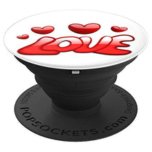 Load image into Gallery viewer, Amazon.com: Love Hearts in Shades of Red Design - PopSockets Grip and Stand for Phones and Tablets: Cell Phones & Accessories - NJExpat