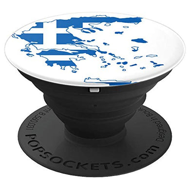Amazon.com: Hellas Greece Flag Map Graphic, Classic, Fun Design - PopSockets Grip and Stand for Phones and Tablets: Cell Phones & Accessories