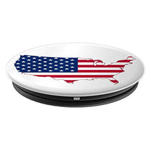 Load image into Gallery viewer, Amazon.com: USA Flag Map Graphic, Classic, Fun Design. - PopSockets Grip and Stand for Phones and Tablets: Cell Phones & Accessories - NJExpat