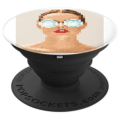 Amazon.com: Lady with Glasses Design, pixelated - PopSockets Grip and Stand for Phones and Tablets: Cell Phones & Accessories - NJExpat