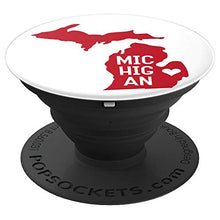 Load image into Gallery viewer, Amazon.com: Commonwealth States in the Union Series (Michigan) - PopSockets Grip and Stand for Phones and Tablets: Cell Phones & Accessories - NJExpat