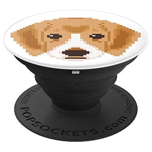 Amazon.com: Cute Pixelated Puppy Design - PopSockets Grip and Stand for Phones and Tablets: Cell Phones & Accessories - NJExpat