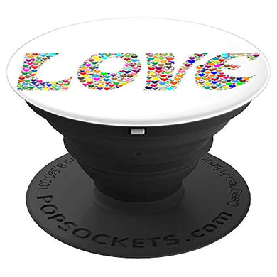 Amazon.com: Love Hearts Multicolor Design - PopSockets Grip and Stand for Phones and Tablets: Cell Phones & Accessories - NJExpat