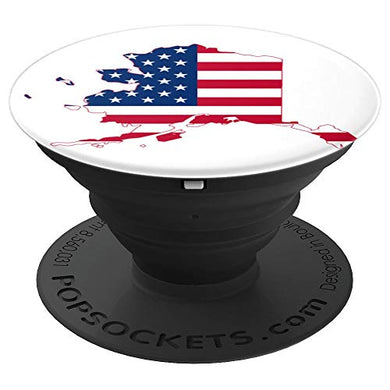 Amazon.com: USA Flag Map of Alaska, Graphic, Classic, Fun Design - PopSockets Grip and Stand for Phones and Tablets: Cell Phones & Accessories - NJExpat