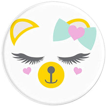 Load image into Gallery viewer, Amazon.com: Animal Faces Series (Bear in Bow with hearts) - PopSockets Grip and Stand for Phones and Tablets: Cell Phones & Accessories - NJExpat