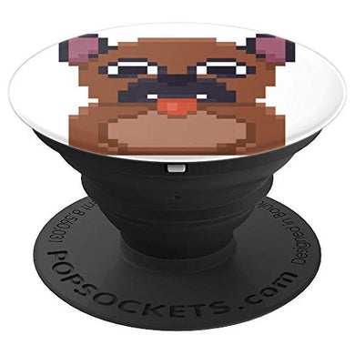 Amazon.com: Pixelated Pug Kids or Fun Character Design - PopSockets Grip and Stand for Phones and Tablets: Cell Phones & Accessories - NJExpat