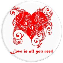 Load image into Gallery viewer, Amazon.com: Love Is All You Need Heart Design - PopSockets Grip and Stand for Phones and Tablets: Cell Phones & Accessories - NJExpat