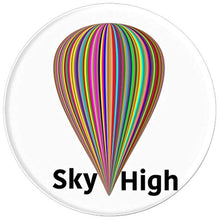 Load image into Gallery viewer, Amazon.com: Balloon Rainbow Striped Sky High Hot Air Style - PopSockets Grip and Stand for Phones and Tablets: Cell Phones & Accessories - NJExpat
