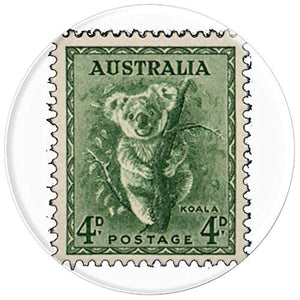 Amazon.com: Australian Koala Stamp 4p Eucalyptus Green - PopSockets Grip and Stand for Phones and Tablets: Cell Phones & Accessories - NJExpat