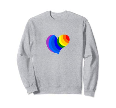 Amazon.com: Rainbow Colored Heart Spread The Love Sweatshirt: Clothing - NJExpat