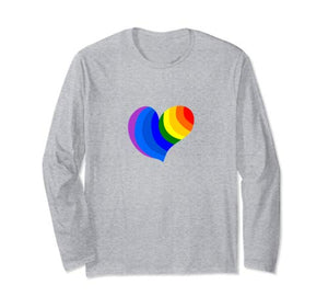 Amazon.com: Rainbow Colored Heart Spread The Love Long Sleeve T-Shirt: Clothing - NJExpat