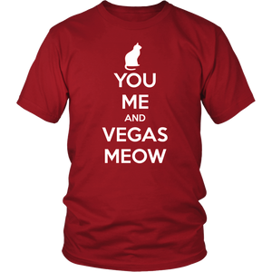 You, Me and Vegas Meow T-shirt Gift for Cat Lovers Pet Owner