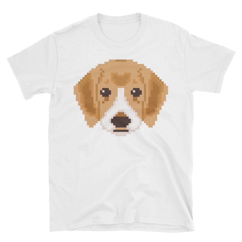 Adorable Pixel Puppy Short-Sleeve Unisex T-Shirt, great gift - NJExpat