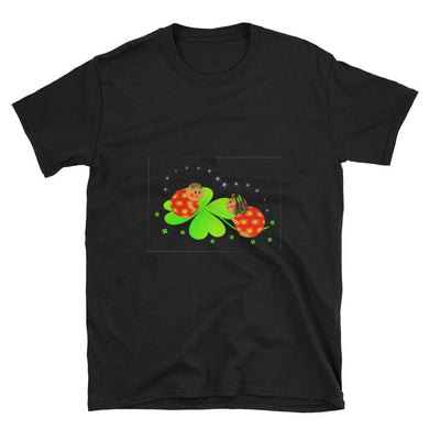 4 Leaf Clover Lady Bug Design Short-Sleeve Unisex T-Shirt - NJExpat