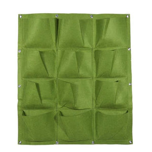 Garden Pockets Vertical Wall Planter Grow Bags for Plants Flower Polyester Felt Hanging Planting - NJExpat