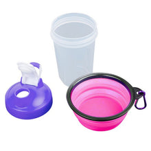 Load image into Gallery viewer, 2018 400ml Pet Waterer Feeder Puppy Water Drinking Feeding Cup Bowl Outdoor Travel Small Dog Portable Bottle Carriers For Poodle - NJExpat
