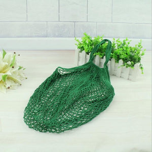Foldable Mesh Net String Shopping Bag Reusable Store Handle Tote - NJExpat
