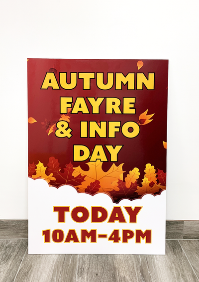 Autumn Fayre Signs For Parish Council