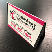 Folded Business Cards 85x55mm 4pp Long Edge