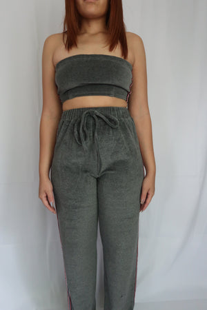 Terry Tube Top Jogger Set