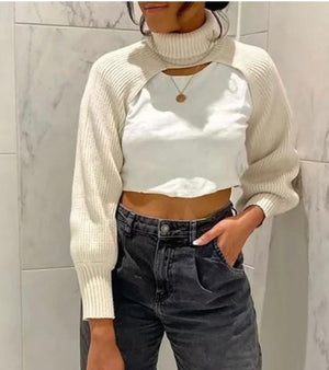 Nina Cropped Turtleneck