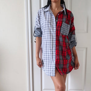 Clash the Plaid Blouse