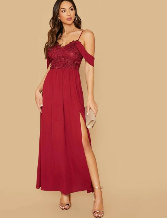 CHRISTMAS RED MAXI DRESS