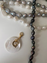 Load image into Gallery viewer, Round Pearl Initial Charms